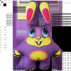 Заяц цветной 22*14 см