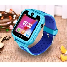 LIGE детские телефон-часы с LBS трекером (синий цвет)