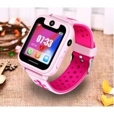LIGE детские телефон-часы с LBS трекером (розовый цвет)